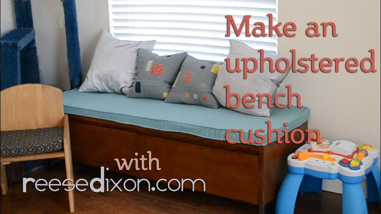 how to make an upholstered bench cushion youtube. Black Bedroom Furniture Sets. Home Design Ideas