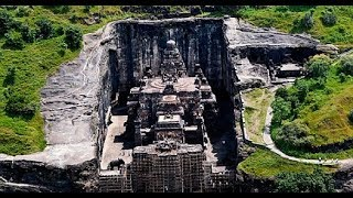 History of Kailash mandir.aurangabad,maharastra temple in ellora caves.built as an Alien technology.