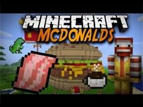MINECRAFT MCDONALDS MOD 1.6.2 FAST FOOD CRAFT