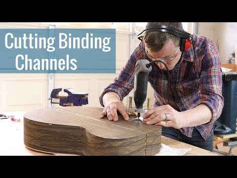 Cutting Binding Channels (Ep 18 - Acoustic Guitar Build)