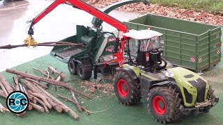 RC TRACTOR CLAAS Xerion 5000 & WOOD CHIPPER