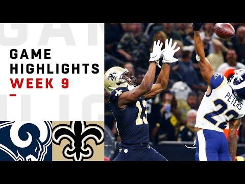 Rams vs Saints Week 9 Highlights  NFL 2018
