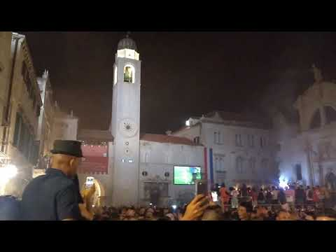 Soccer World Cup Croatia vs England 2018 : Dubrovnik bursts with joy thumbnail
