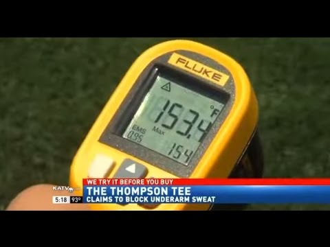 TV reporter Works Out in Sweat Proof Thompson Tee in 150+ Temperature