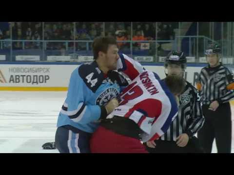 KHL Fight: Artyukhin KO's Nichushkin