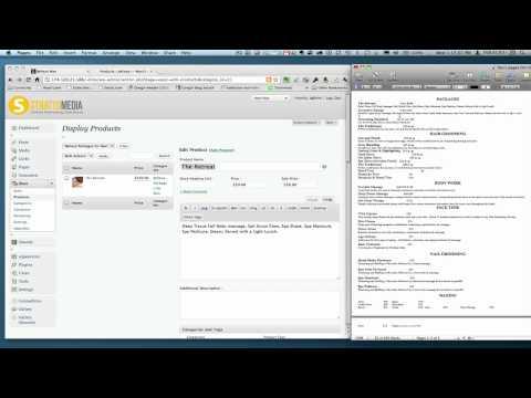 Wordpress WP e-commerce shopping cart plugin tutorial