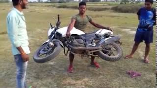 The Real Baahubali  Steel Man Of India  Bike Stunt