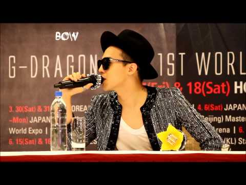 130517 G-DRAGON press conference in hong kong (full)
