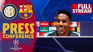 FULL STREAM | Junior Firpo and Ernesto Valverde's press conference ahead of Inter - Barça