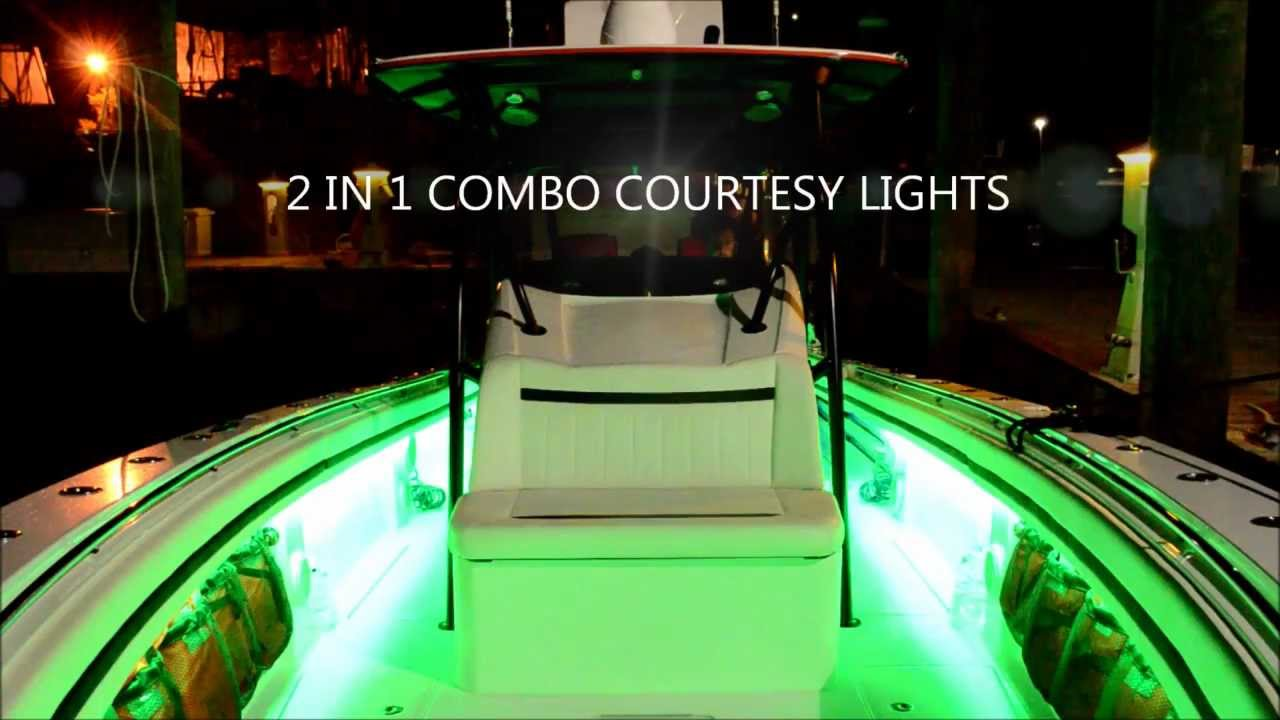 flo led boat lights under gunnel led boat lighting youtube. Black Bedroom Furniture Sets. Home Design Ideas