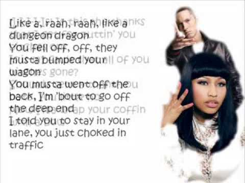 Nicki Minaj ft. Eminem - Roman's Revenge (Dungeon Dragon) Lyrics