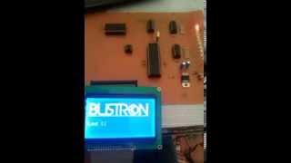 Bustron Grafik LCD ve Led indikatörlü RS485 kontrol paneli