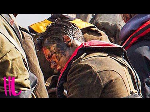 Harry Styles Bleeding & Covered In Mud Shooting 'Dunkirk'