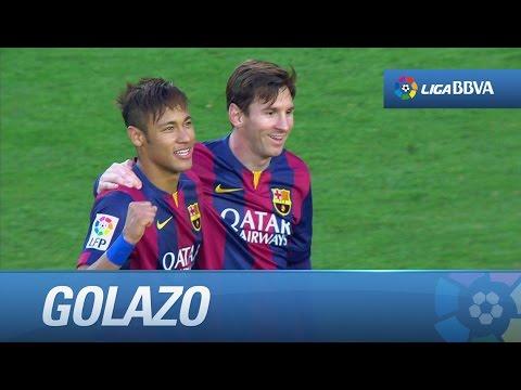 Recorte y buen gol de Neymar (3-0) en el FC Barcelona - Getafe CF