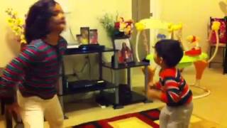 Cute dancing of Khushi and Aarav