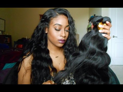Aliexpress Initial Hair Review   Virgin Brazilian Body Wave   OMG Hair