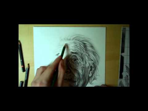 Albert Einstein Drawing Time Lapse