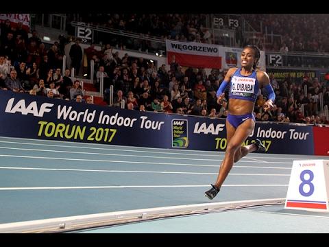 Genzebe Dibaba (ETH) 3:58.80 - WL - 1500 m - Torun, POL - 10 feb 2017