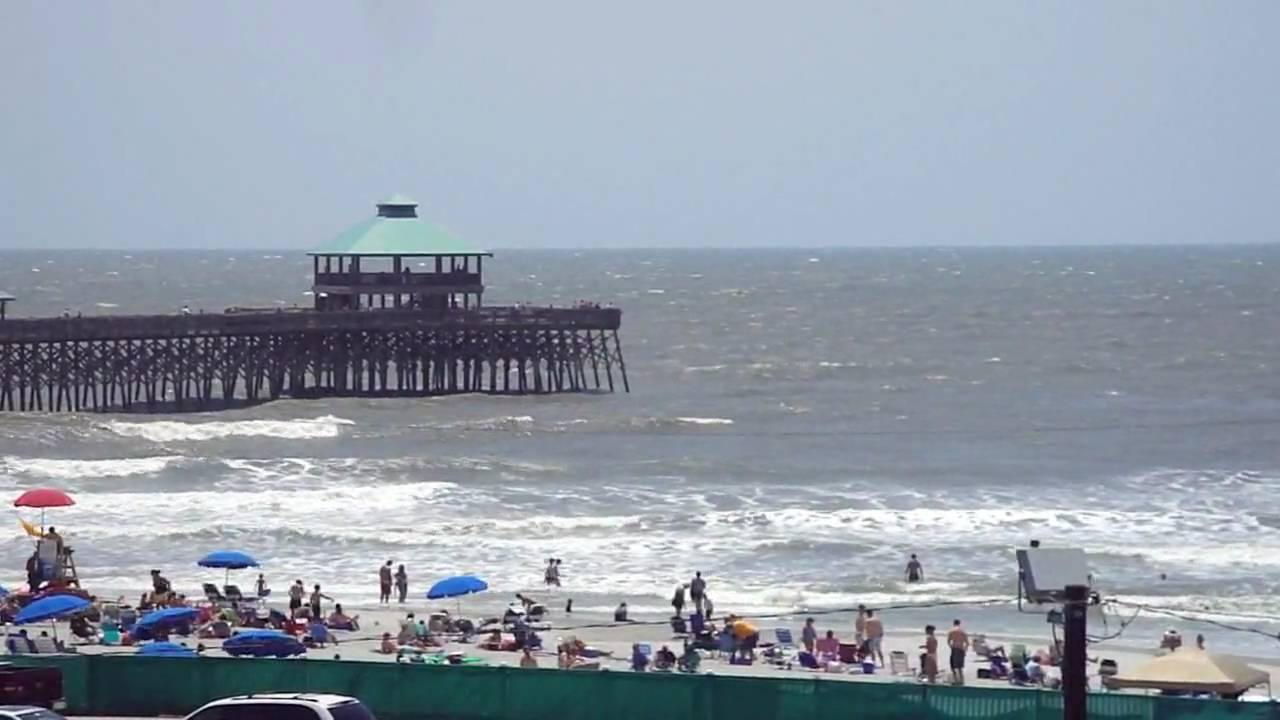 Folly beach sc fishing pier 2010 youtube for Myrtle beach pier fishing report