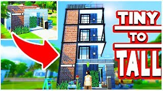 TINY BUILD TO TALL BUILD! W/ The Sim Supply [The Sims 4]