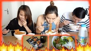 Thử thách ăn mì cay - Spicy noodle challenge ♡Truc's hobbies♡