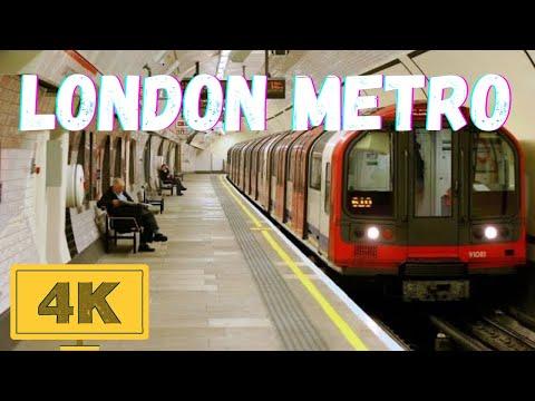 Underground Tube London Metro Railway in 4K - YouTube