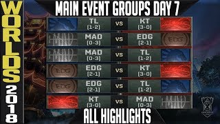 Worlds 2018 Day 7 Highlights ALL GAMES Main Event