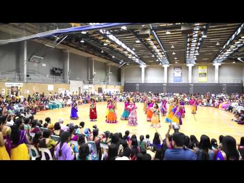 Sydney Ganesha Festival 2014- Ladies Dance For Gallu Gejje,megham Karukudhu,nagada Sang Dhol video