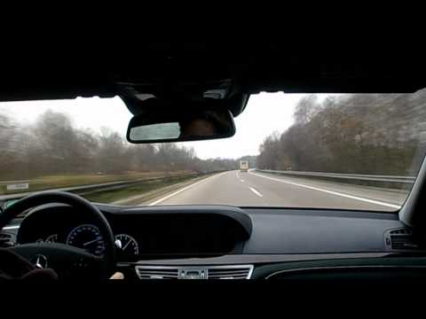 Driving fast on the Autobahn in a Mercedes S-Class (3)