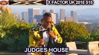 "Olatunji Yearwood sings Original Song ""Ola"" The Overs | Judges House X Factor UK 2018"