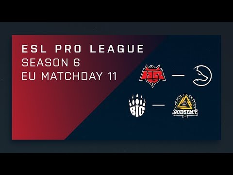 CS:GO: Hellraisers vs. LDLC | BIG vs. GODSENT - Day 11 - ESL Pro League Season 6 - EU