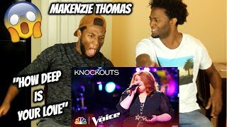 """Kelly Bugs Out for MaKenzie Thomas' """"How Deep Is Your Love"""" Cover - The Voice 2018 Knockouts"""
