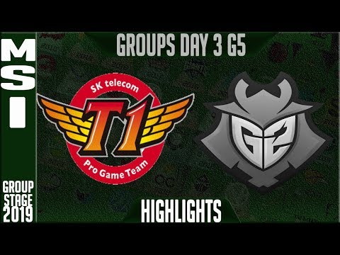 SKT vs G2 Highlights | MSI 2019 Group Stage Day 3 | SK Telecom T1 vs G2 Esports