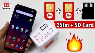 Redmi Note 7 Hybrid Sim Solution | How to use 2Sim & SD Card in Redmi Note 7 & Redmi Note 7 Pro