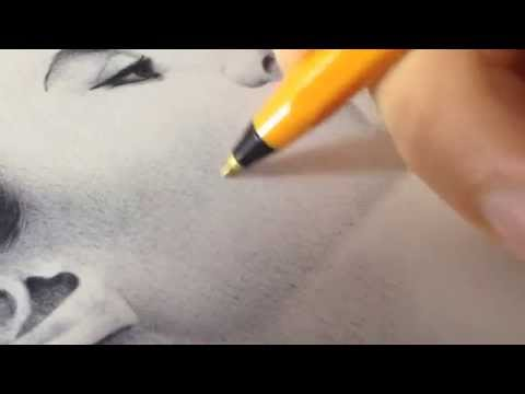 Rouge désir - How to draw in Ballpoint Pen (Gareth Edwards)