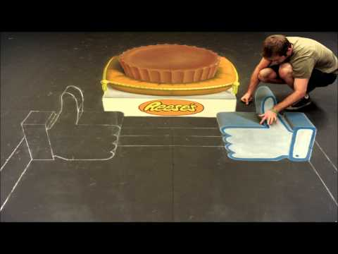 REESE S 3D Chalk Art: Thank You to Our 10 Million Fans