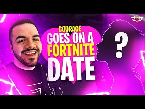 COURAGE GOES ON A FORTNITE DATE! I MET MY FUTURE WIFE! (Fortnite: Battle Royale)