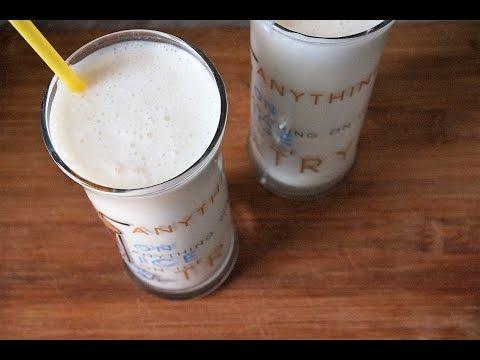 Смузи с творогом и бананом правильное питание/Smoothies with cottage cheese and banana