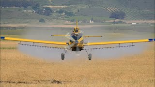 Air Tractor 602 - The sight and sounds of the big 602 in action, low and fast.