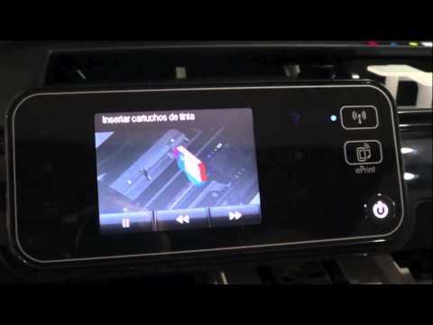 Animación del Proceso de inserción de cartuchos impresora HP Deskjet