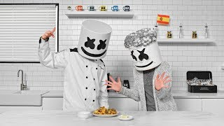Marshmello and his Abuela Cook Spanish Paella | Cooking with Marshmello