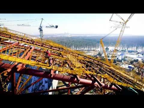 """Самара с высоты птичьего полета. Строительство стадиона """"Самара Арена"""" к ЧМ 2018"""