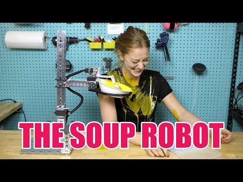 I made a robot that serves me soup