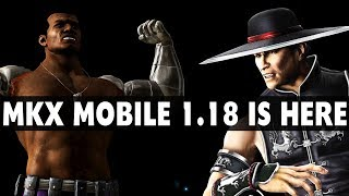 MKX Mobile 1.18 Update Quick Review. New Characters and Features.