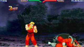 Street Fighter Alpha 3 - Ken vs M.Bison