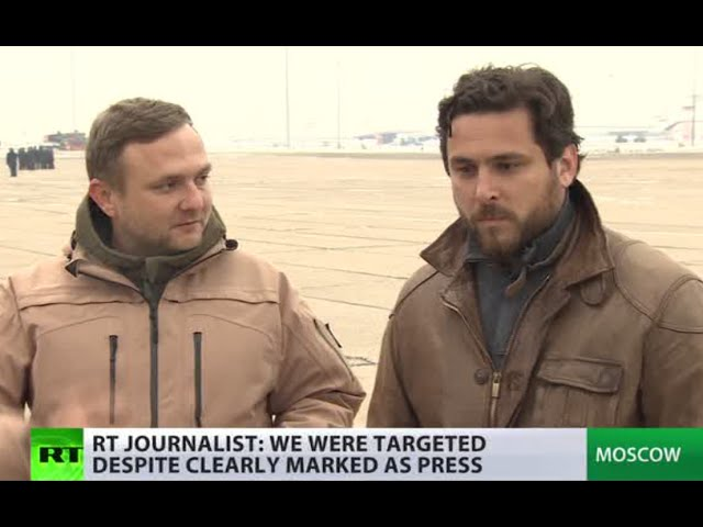 'Despite clearly marked as press we were targeted' - RT crew shelled in Syria