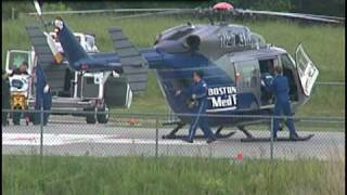 PLYMOUTH, MA- Medflight Takes Girl who Crashed ATV in Bog to Hospital