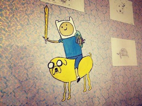 Рисунок на стене! Укрась свою комнату.