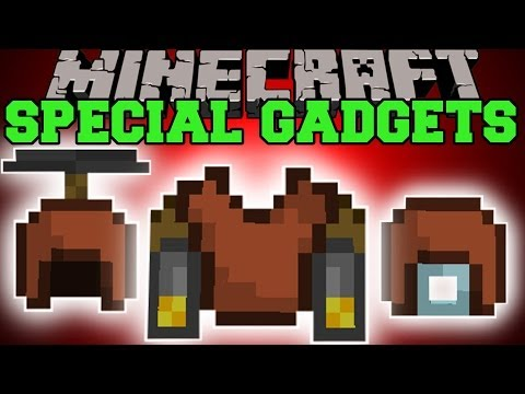 Minecraft: SPECIAL GADGETS (JETPACK, HELICOPTER HAT, GLIDER, & MORE!) Mod Showcase