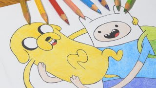 Speed Drawing - Finn e Jake (Adventure Time)